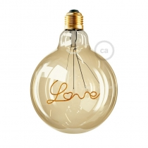 LED Golden Light Bulb Love