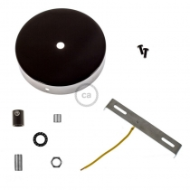 120 mm ceiling rose kit with cylindrical metal cable retainer