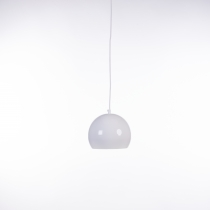 EGG PENDANT white