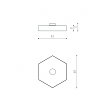 THIN HEXAGON LAGI ø420mm